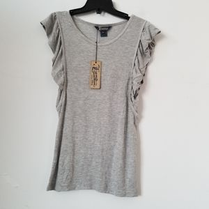 NWT French Connection Ruffle Sleeves Blouse,XS